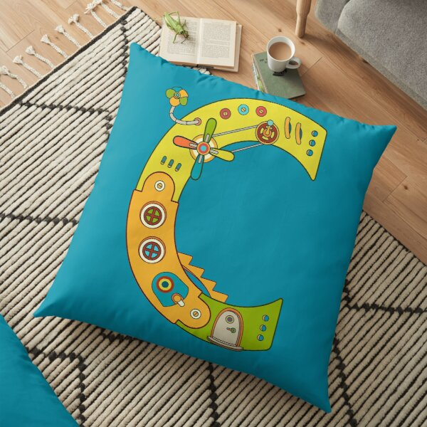 Copy of C for Chameleon, from the AlphaPod collection Floor Pillow