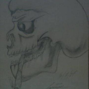 Smokey Skull  by Dj-Ang3l