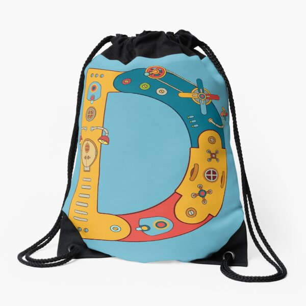 D for Dinosaur, from the AlphaPod collection Drawstring Bag