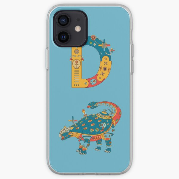 D for Dinosaur, from the AlphaPod collection iPhone Soft Case