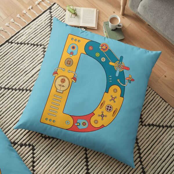 D for Dinosaur, from the AlphaPod collection Floor Pillow