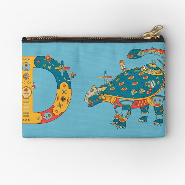 D for Dinosaur, from the AlphaPod collection Zipper Pouch