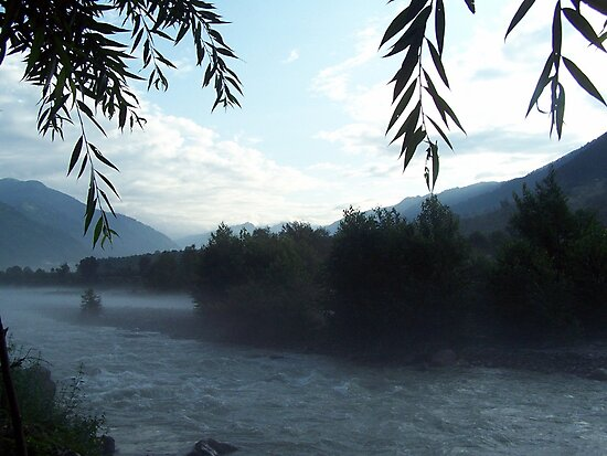 Manali River Beas Scenery India by ruirosario