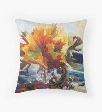 Autumn's Bridal Bouquet Throw Pillow