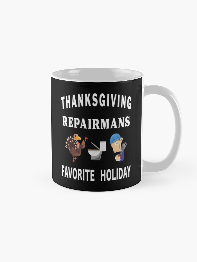 Alternate view of Thanksgiving Tradesman Contractor Repairman Home. Mug