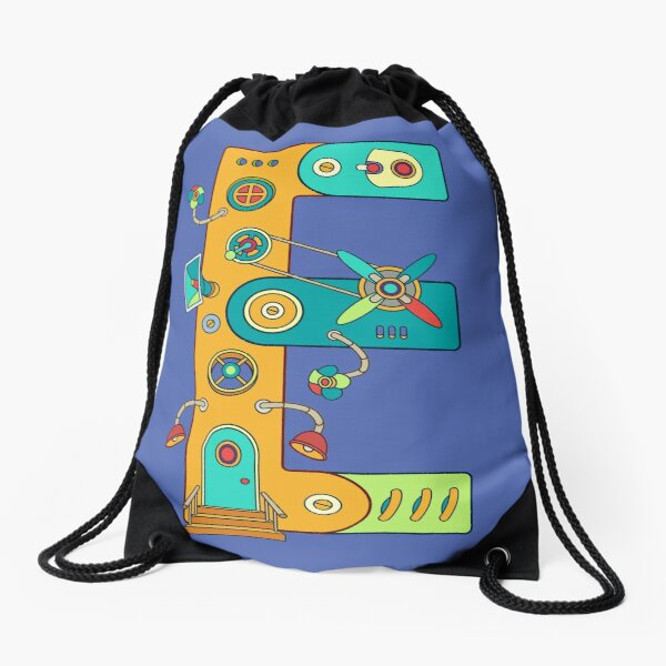 E for Eagle, from the AlphaPod collection Drawstring Bag