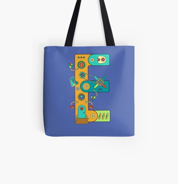 E for Eagle, from the AlphaPod collection All Over Print Tote Bag