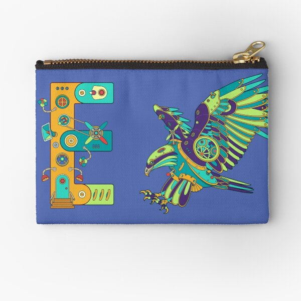 E for Eagle, from the AlphaPod collection Zipper Pouch