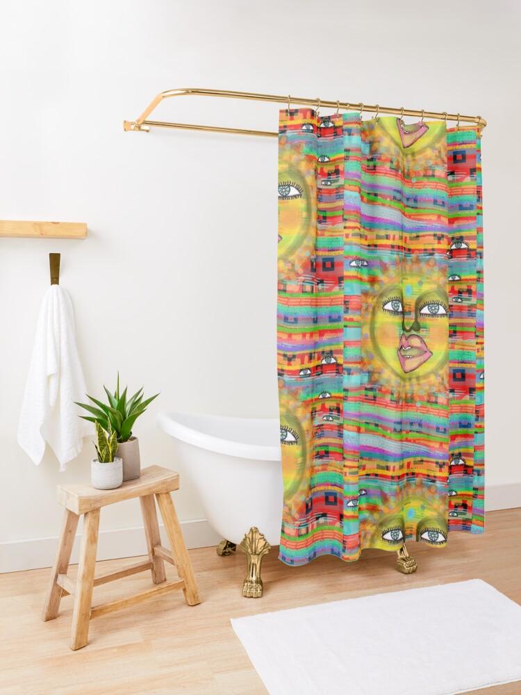 Alternate view of Summer Sun Dream Shower Curtain