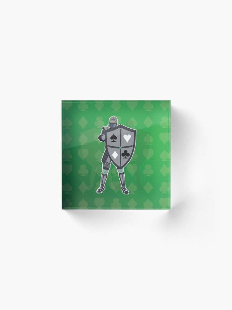 Alternate view of Card Deck Medieval Knight  Acrylic Block
