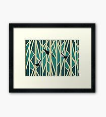 Tui and Fantail on Trees Framed Print
