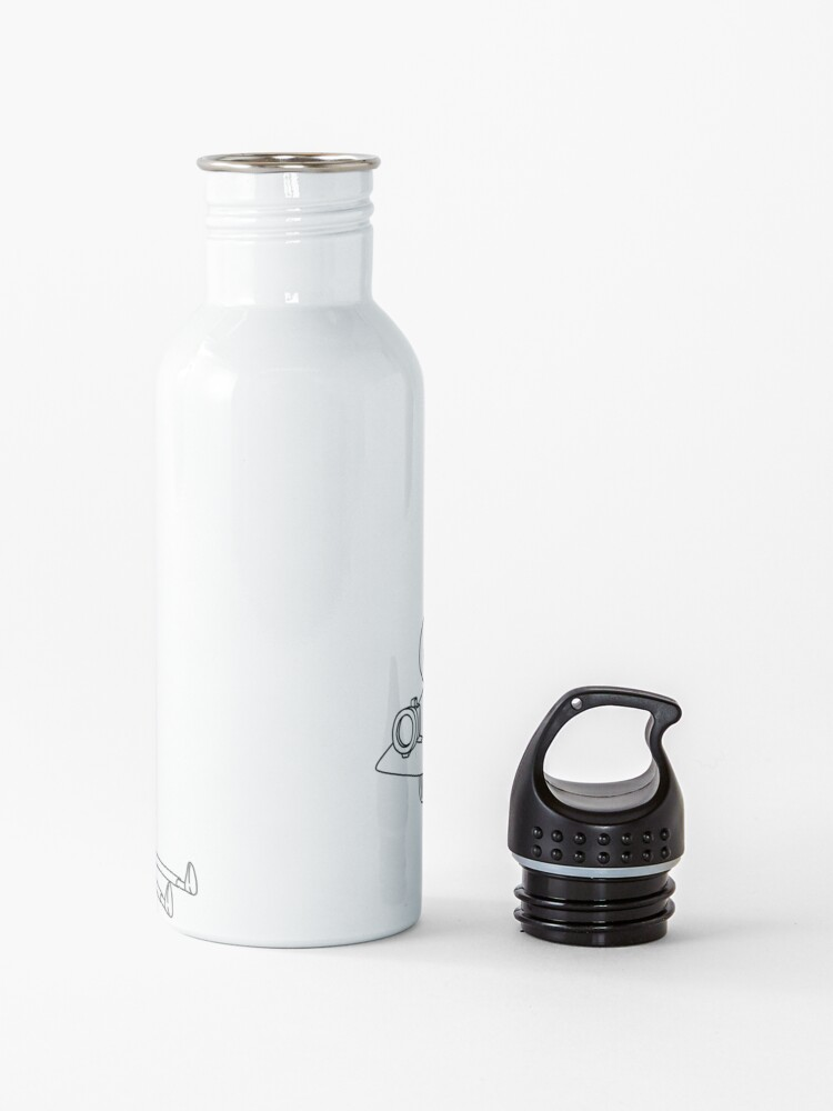 Alternate view of Rick and Morty in the spaceship   Rick and Morty Gadget Water Bottle