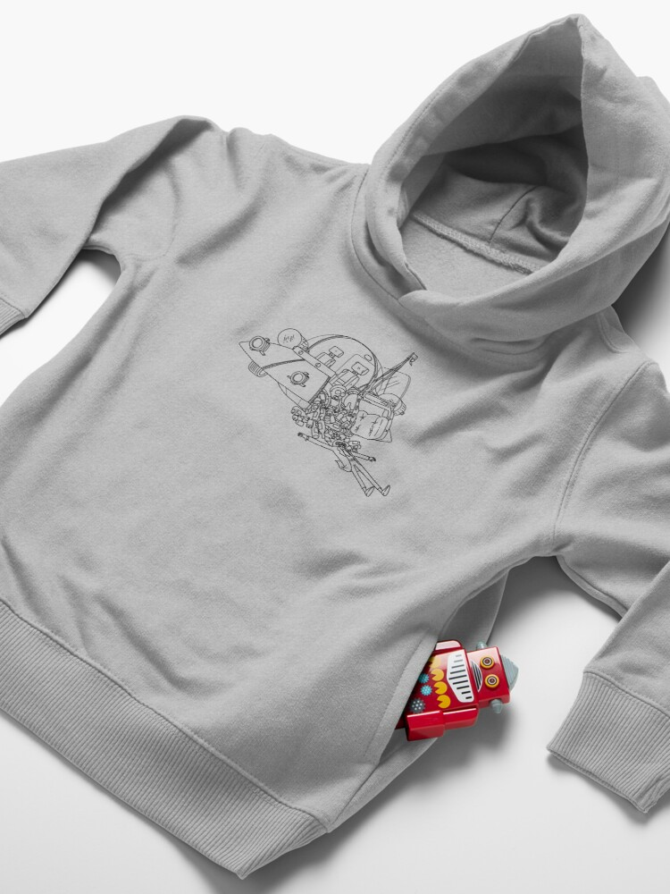 Alternate view of Rick and Morty in the spaceship | Rick and Morty Gadget Toddler Pullover Hoodie
