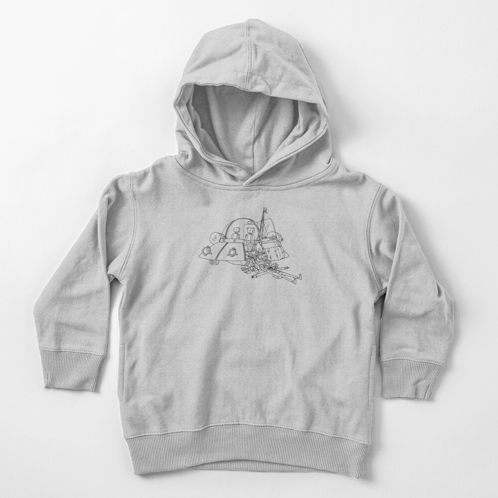 Rick and Morty in the spaceship | Rick and Morty Gadget Toddler Pullover Hoodie