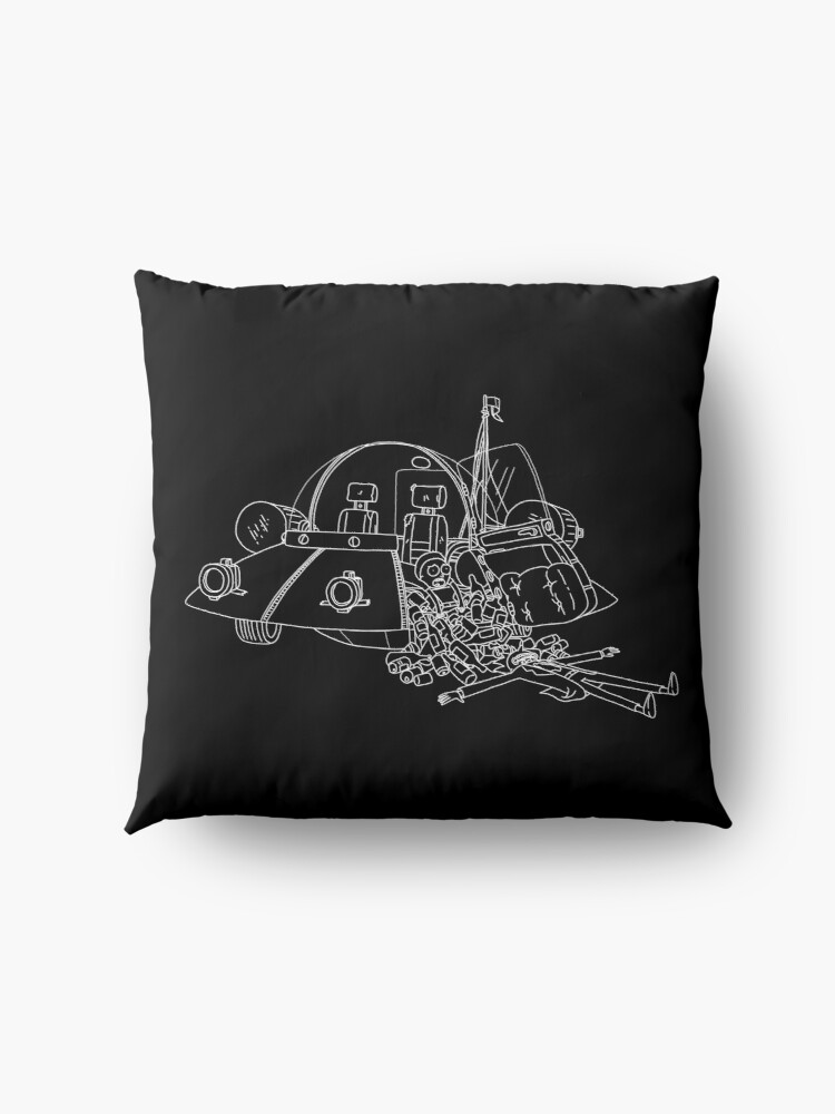 Alternate view of Rick and Morty in the spaceship | Rick and Morty Gadget Floor Pillow