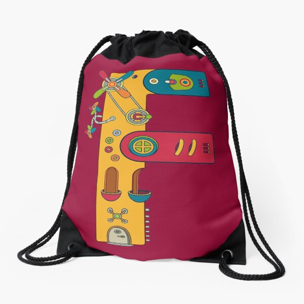 F for Frog, from the AlphaPod collection Drawstring Bag