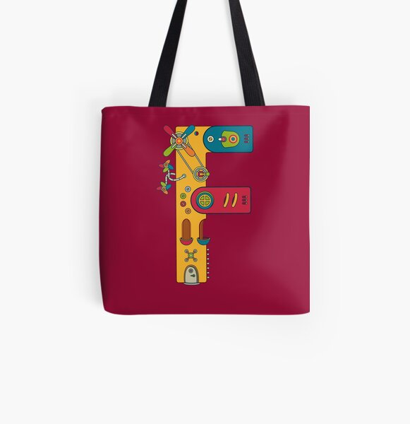 F for Frog, from the AlphaPod collection All Over Print Tote Bag