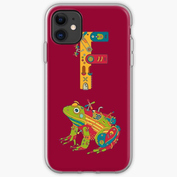 F for Frog, from the AlphaPod collection iPhone Soft Case