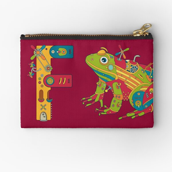 F for Frog, from the AlphaPod collection Zipper Pouch