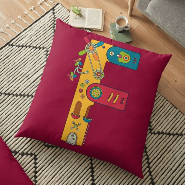F for Frog, from the AlphaPod collection Floor Pillow