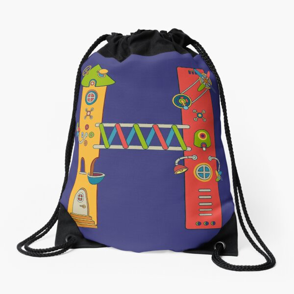 H for House, from the AlphaPod collection Drawstring Bag