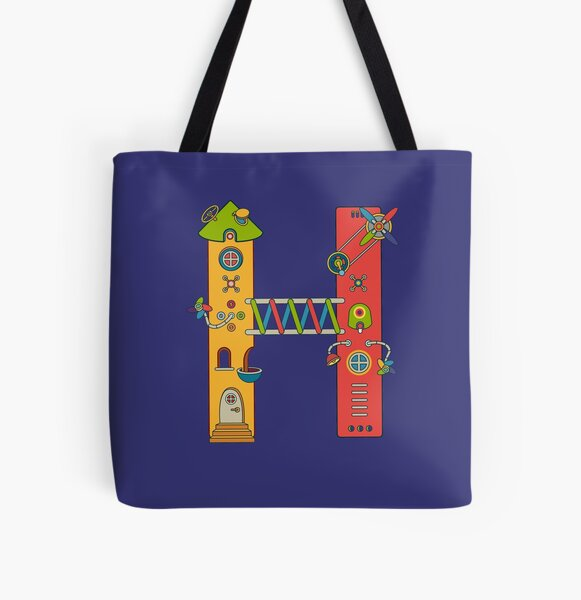 H for House, from the AlphaPod collection All Over Print Tote Bag
