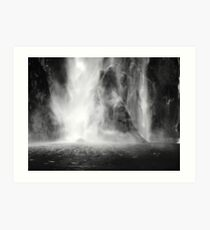 Newzealand Waterfall Art Print