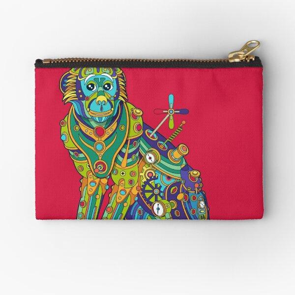 Vervet Monkey Zipper Pouch