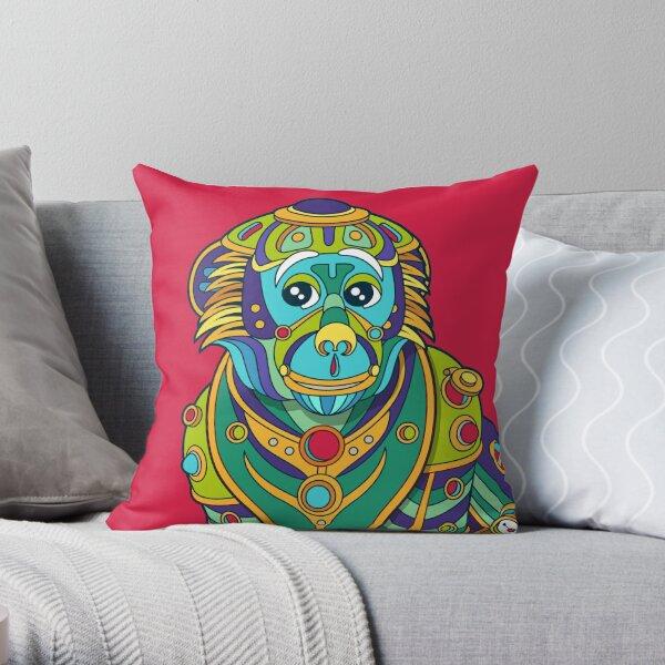 Vervet Monkey Throw Pillow