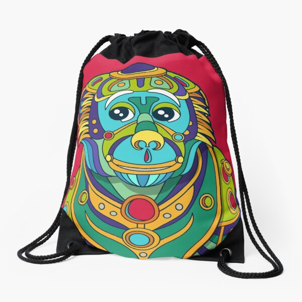 Vervet Monkey Drawstring Bag