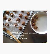 Vegetarian Meatballs Photographic Print