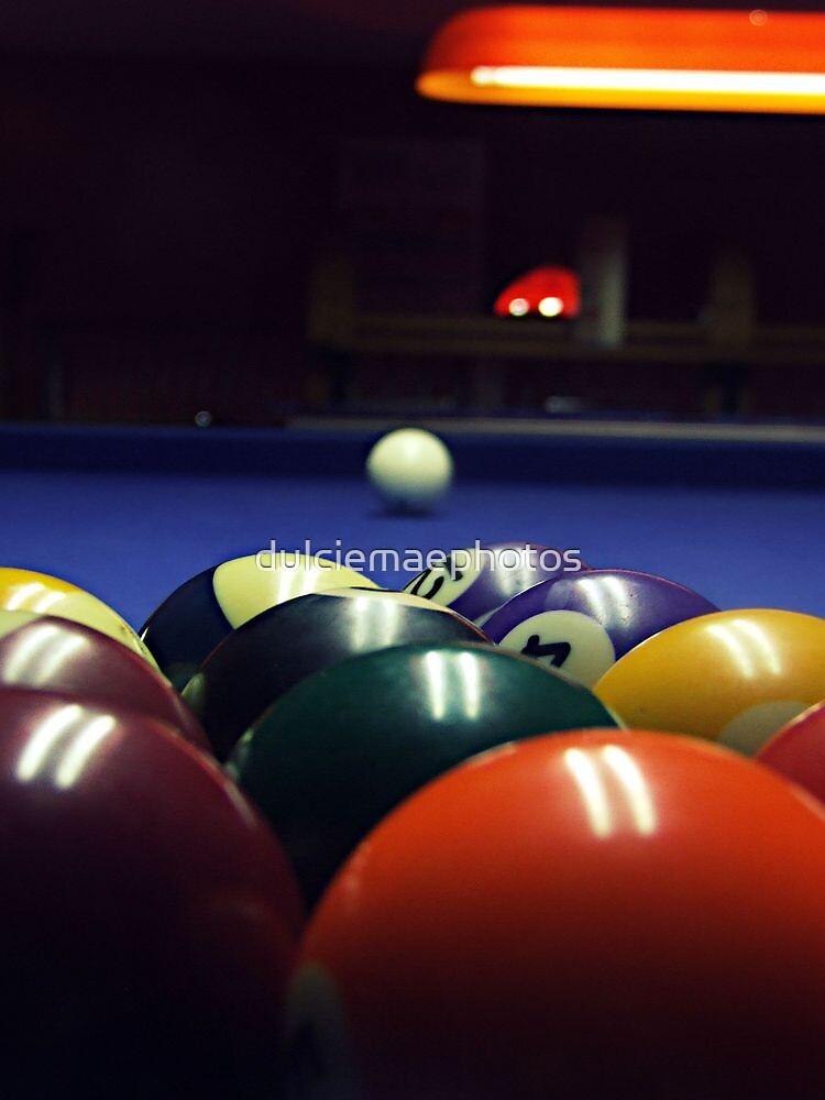 Pool table by dulciemaephotos