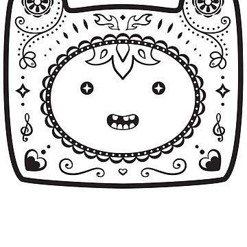 Finn Sugar Skull - black by CatMeowsterson