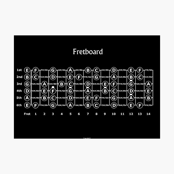 Guitar Fretboard Photographic Print
