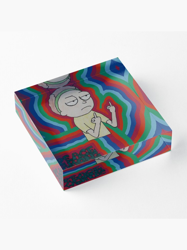 Alternate view of Morty Peace Among Worlds Acrylic Block