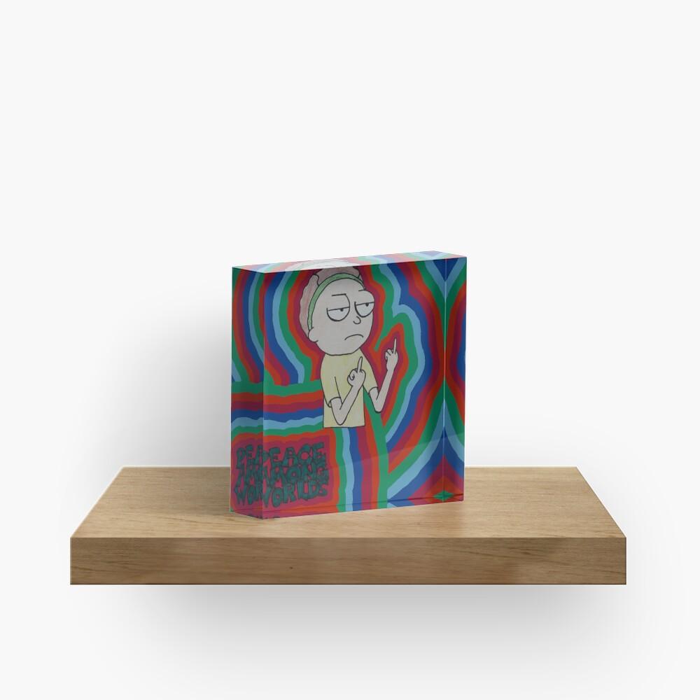 Morty Peace Among Worlds Acrylic Block