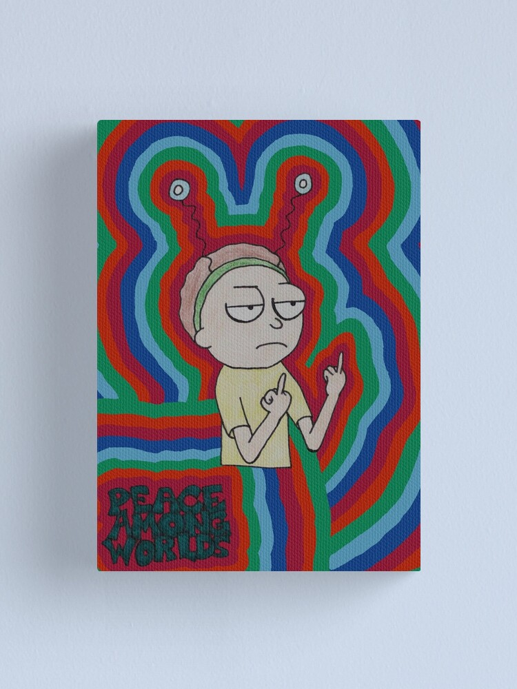 Alternate view of Morty Peace Among Worlds Canvas Print