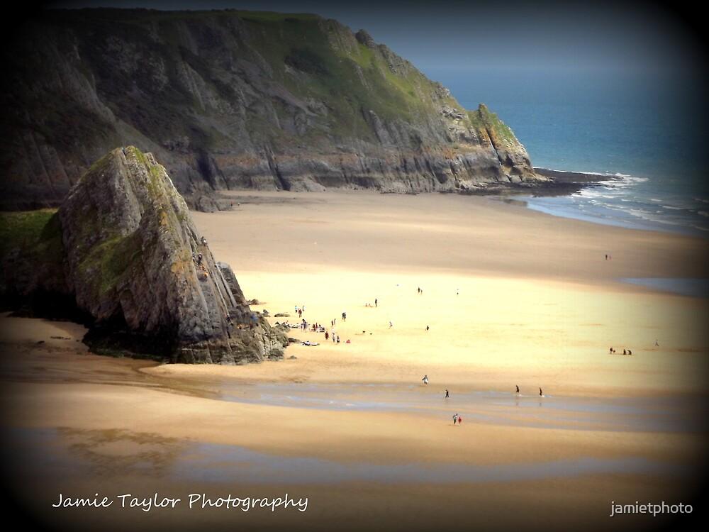 three cliffs distant by jamietphoto