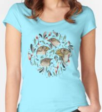 FINE FINCHES Women's Fitted Scoop T-Shirt