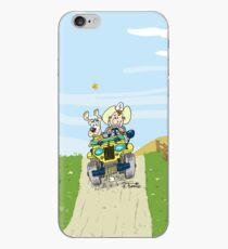 Yellow Willys CJ2A jeep! iPhone Case