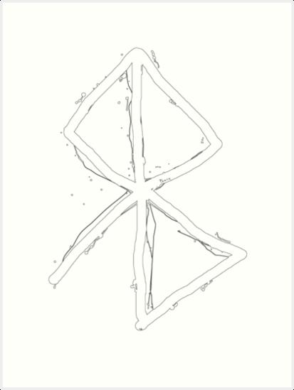 Peace Viking Symbol A Rune Based Symbol Meaning Peace Art Prints