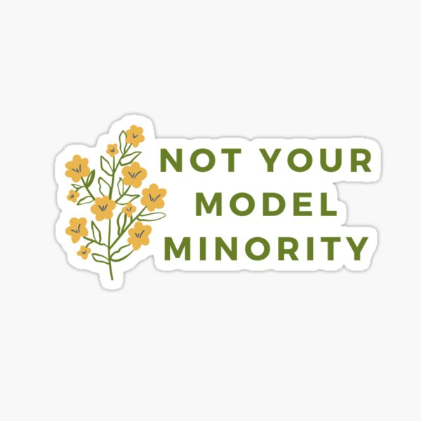not your model minority Sticker
