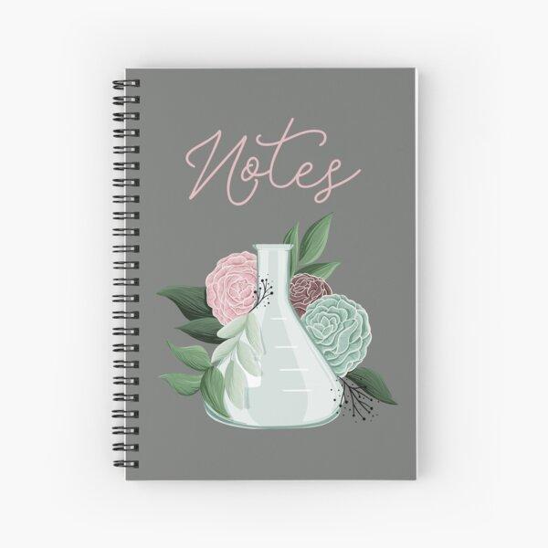 Floral Erlenmeyer Flask Spiral Notebook