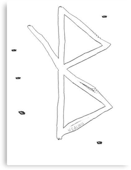 Healing Viking Symbol A Rune Based Symbol Meaning Healing Canvas