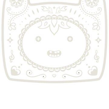 Finn Sugar Skull - white by CatMeowsterson