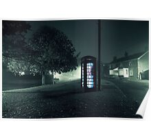 Glowing Phonebox Poster