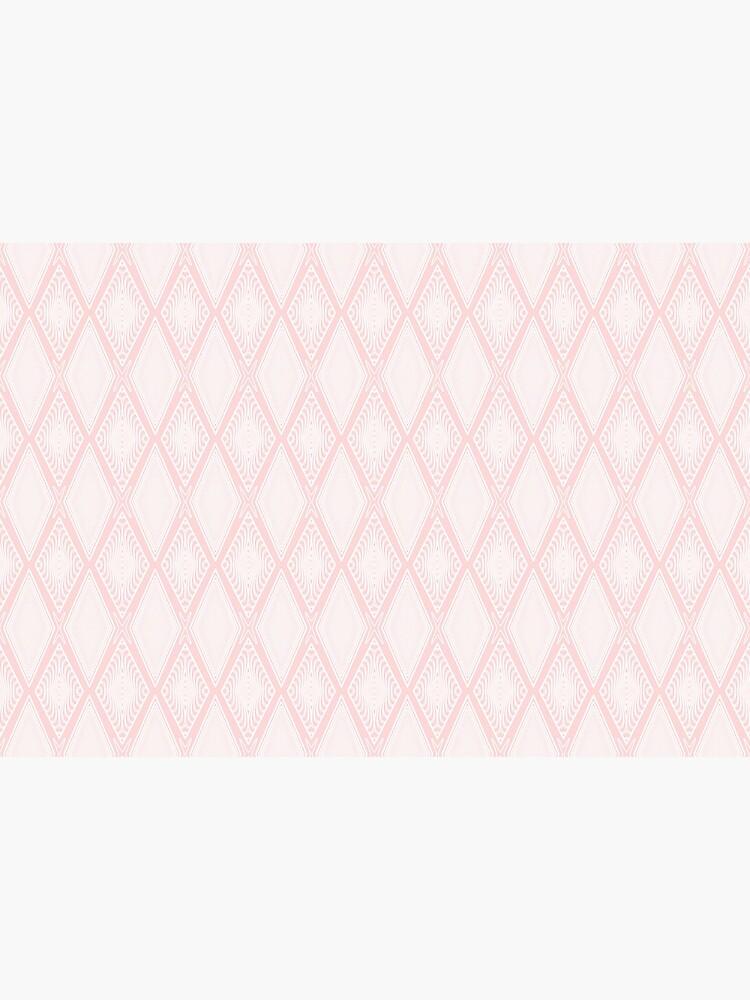 Pastel Light Pink and White Decorative Diamond Geometric Pattern by RootSquare