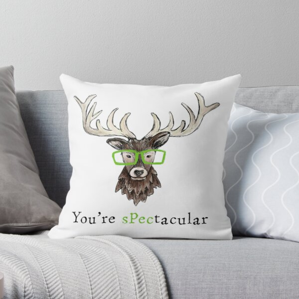 You're Spectacular Motivational Stag Throw Pillow