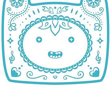 Finn Sugar Skull - blue by CatMeowsterson