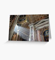 Vatican Rome.....Sun Rays Greeting Card